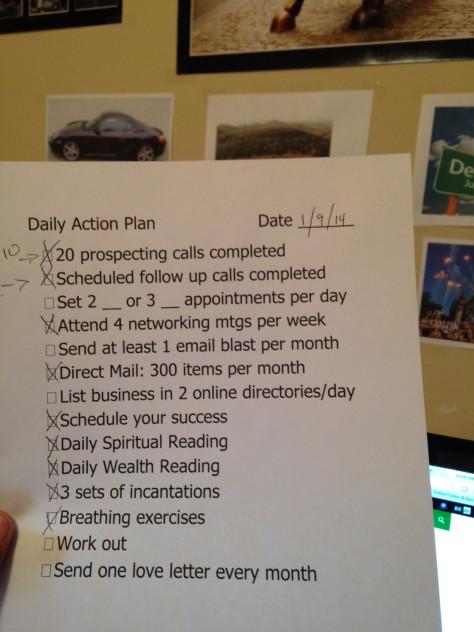 Schedule Success, then measure it!